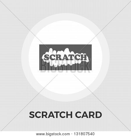 Scratch card icon vector. Flat icon isolated on the white background. Editable EPS file. Vector illustration.