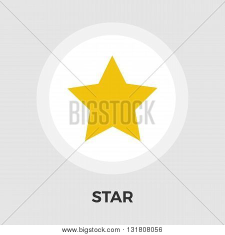 Star icon vector. Flat icon isolated on the white background. Editable EPS file. Vector illustration.
