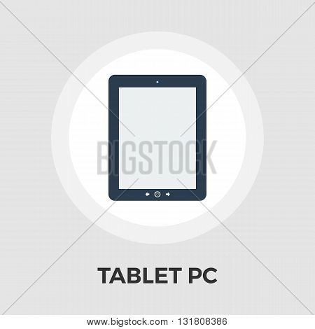 Tablet PC icon vector. Flat icon isolated on the white background. Editable EPS file. Vector illustration.