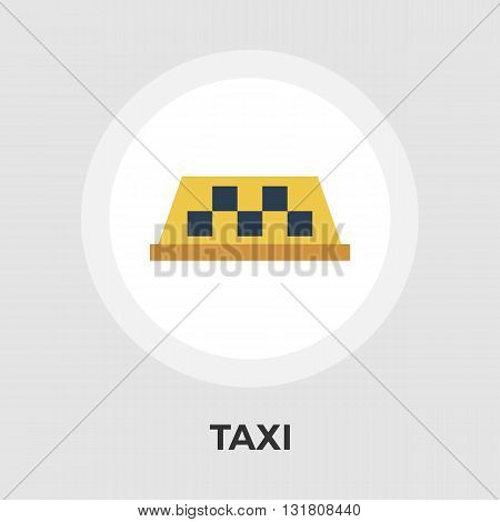 Taxi icon vector. Flat icon isolated on the white background. Editable EPS file. Vector illustration.