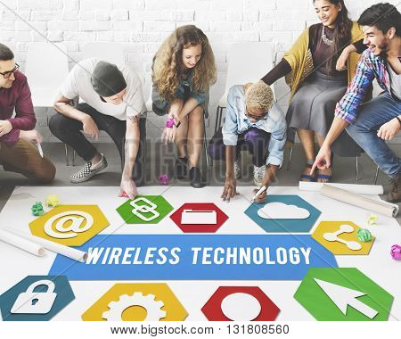 Wireless Technology Connecting Networking Concept