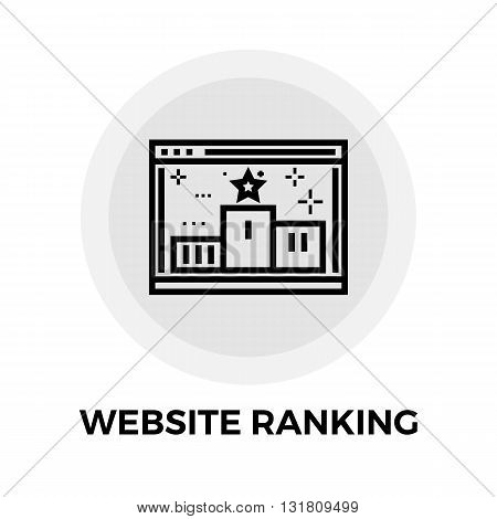 Website Ranking icon vector. Flat icon isolated on the white background. Editable EPS file. Vector illustration.