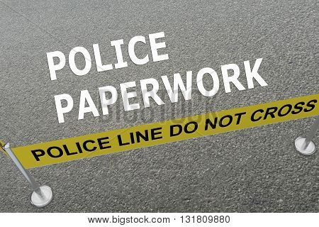 Police Paperwork Concept