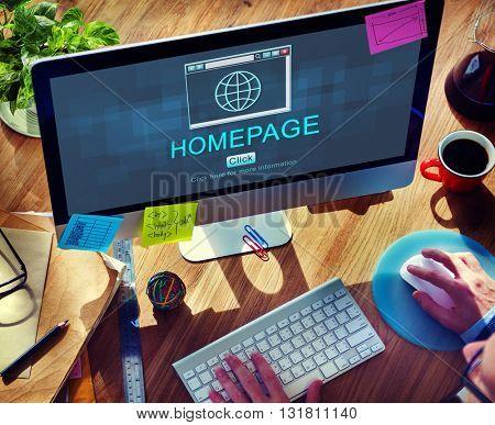 Internet HTML Homepage Browser Big Data Concept