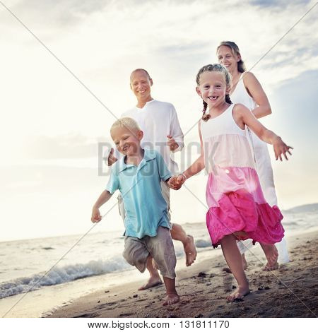 Family Bonding Cheerful Children Parenting Love Concept