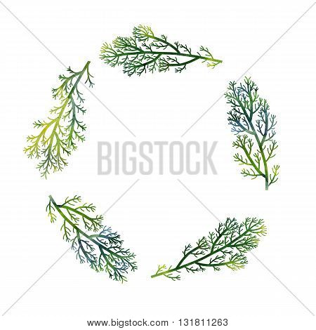 silhouette floral composition with wild plants drawing in watercolor, drawing floral card, invitation template, green seaweeds, watercolor artistic painting background, hand drawn illustration