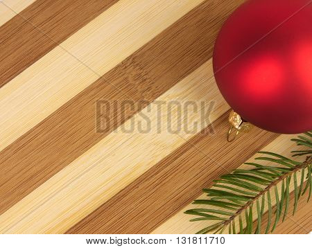 Two Tone cutting board Christmas ball and pine twig