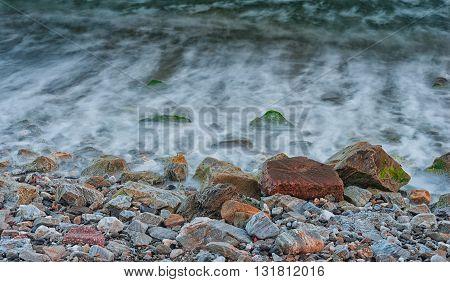 Long Exposure In Coastline