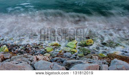 Long Exposure In Coastline Iii