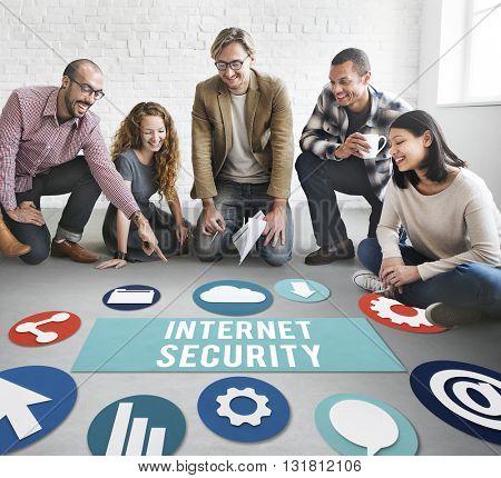 Internet Security Communication Technology Concept