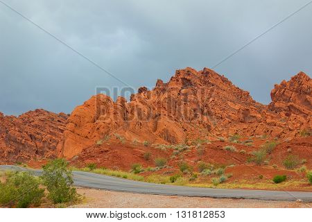 Valley of Fire State Park is the oldest state park in Nevada, USA and was designated as a National Natural Landmark in 1968.