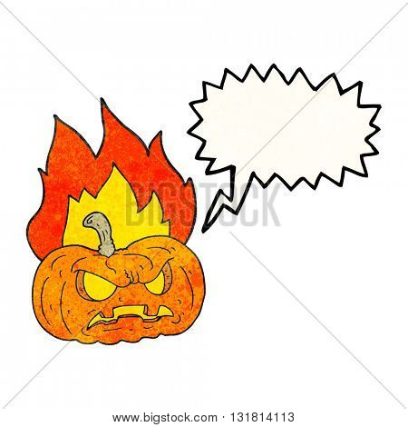 freehand drawn texture speech bubble cartoon halloween pumpkin