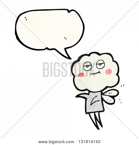 freehand drawn texture speech bubble cartoon cute cloud head imp