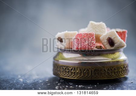 Almond And Rose Turkish Delight