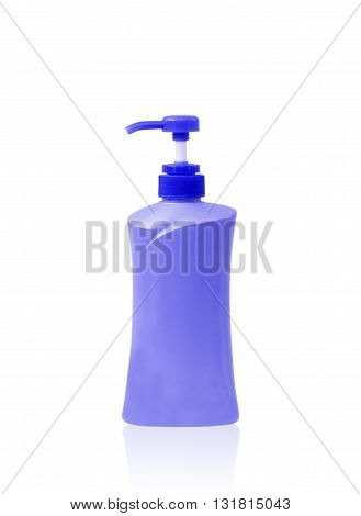 Plastic Bottle pump Of Gel Liquid Soap Lotion Cream Shampoo on white background