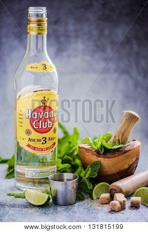 Cuban Mojito With Havana Club Rum.