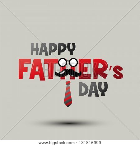 Happy father's day Happy Father day typeface Father's day. vector Illustration