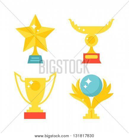 Sports awards vector illustration.
