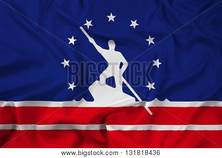 Waving Flag of Richmond Virginia, with beautiful satin background
