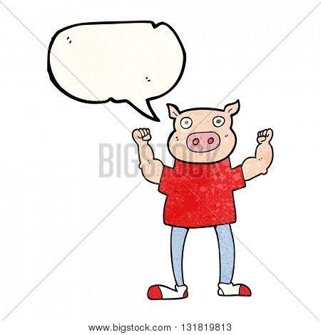 freehand speech bubble textured cartoon headless man