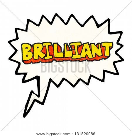 brilliant freehand speech bubble textured cartoon word