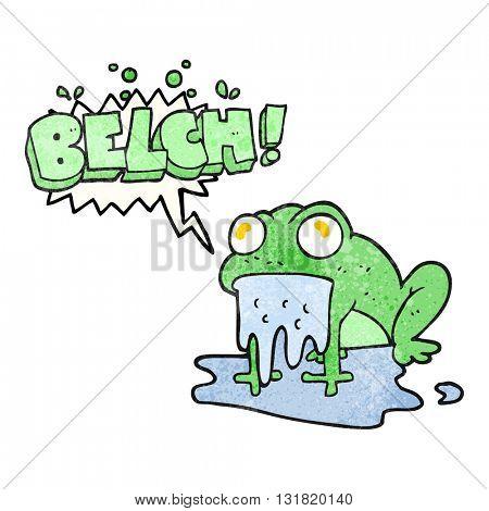 freehand speech bubble textured cartoon gross little frog