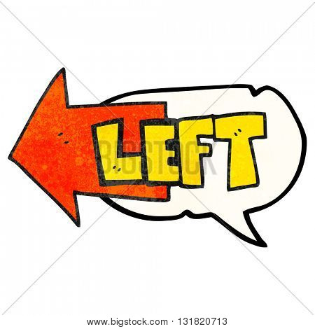 freehand speech bubble textured cartoon left symbol