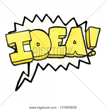 freehand speech bubble textured cartoon idea symbol