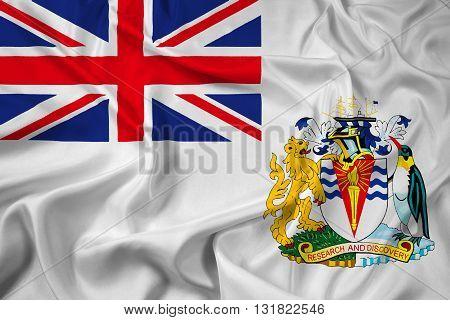 Waving Flag of the British Antarctic Territory