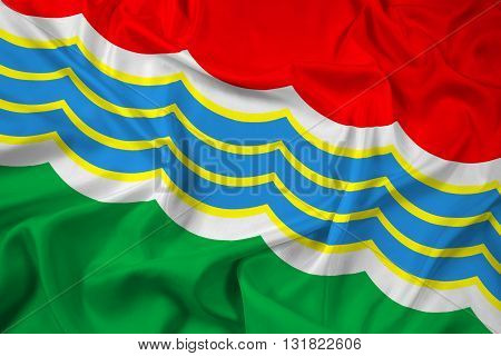 Waving Flag of Tiraspol, with beautiful satin background