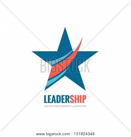 Leadership - vector logo concept illustration. Abstract star vector logo sign. Decorative design element.
