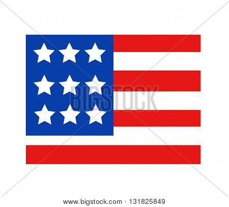 Abstract USA flag in style art design