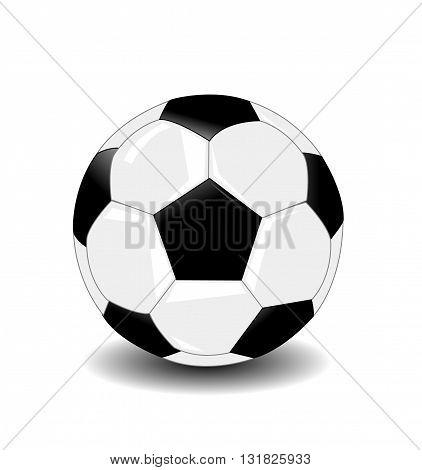 Soccer ball illustration on white background art