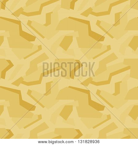 Abstract vector geometric yellow camouflage seamless pattern