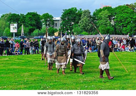 SAINT PETERSBURG RUSSIA -MAY 272016. Open air festival of Norwegian culture