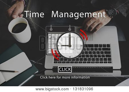 Time Management Organizer Plan Reminder Concept
