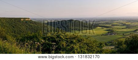 Sutton Bank also known as Roulston Scar is a hill in the Hambleton District of North Yorkshire in England
