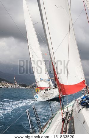 Tivat, Montenegro - 28 April, Race on offshore yachts under sail, 28 April, 2016. Regatta