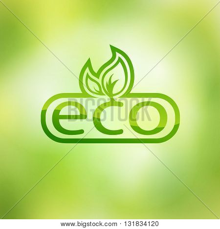 Green eco friendly background - abstract paper leaves.