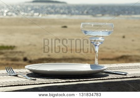 Table At The Ocean