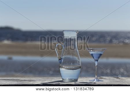 Jug And Glass On The Table