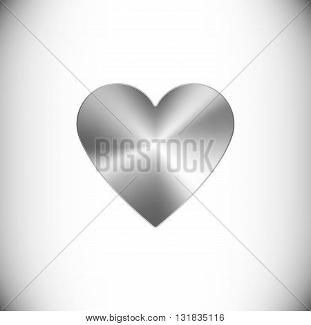 The steel icon representing heart icon for web or mobile devices.