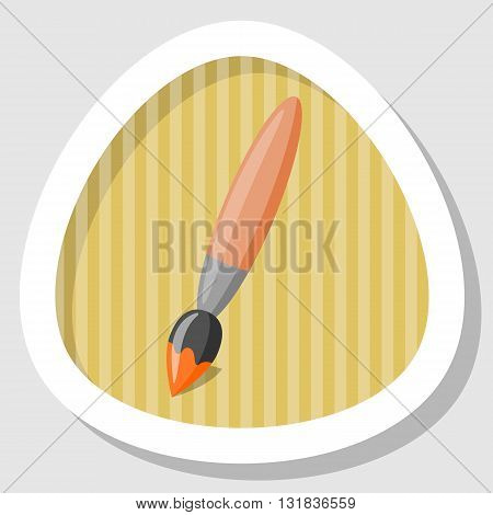 Single brush colorful icon. Vector illustration in cartoon style