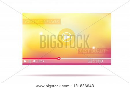 Video player. Media interface for web. Vector illustration.