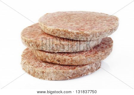 frozen food burger on a white background