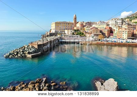 The small port of Nervi a sea district of Genoa