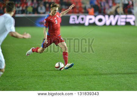 Prague 28.03.2015 _ Borek Dockal (CZE). Match of the EURO 2016 qualification group A Czech Republic - Latvia 1: 1 (0: 1). Goals 90 'Pilar - 30' Višnakovs.