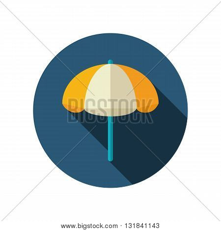 Beach parasol vector flat icon. Summer. Summertime. Vacation eps 10