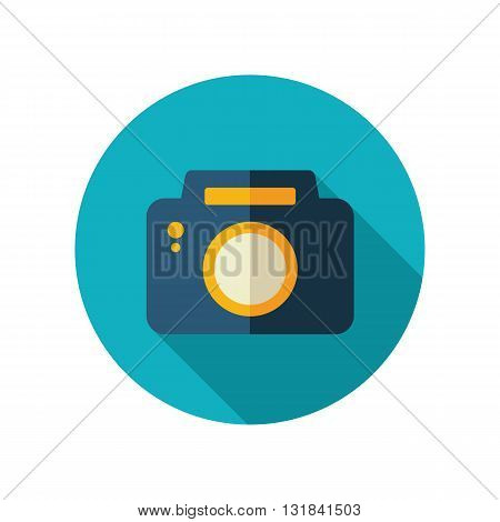 Photo Camera vector flat icon. Beach. Summer. Summertime. Vacation eps 10