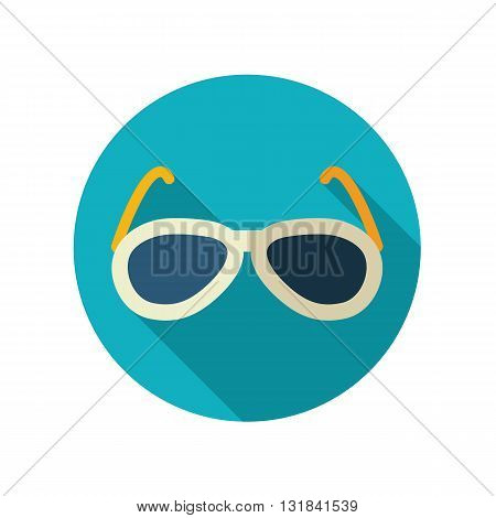 Sunglasses vector flat icon. Beach. Summer. Summertime. Vacation eps 10